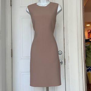 Calvin Klein Tan Nude Crepe Vintage Shift Dress